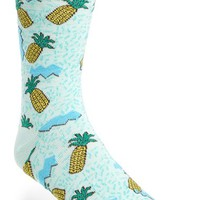 Men's Topman Pineapple Pattern Socks - Blue