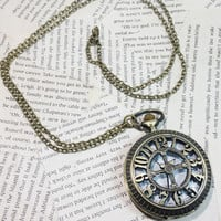 Time To Kiss Locket Clock Pendant Necklace