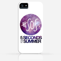 5 Seconds of Summer 5SOS Galaxy or Black and White iPhone 4 Case, iPhone 4s Case, iPhone 5 Case, iPhone 5s Case, iPhone Hard Plastic Case