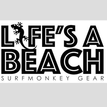 Surfmonkey Gear Decal Sticker - Lifes a Beach