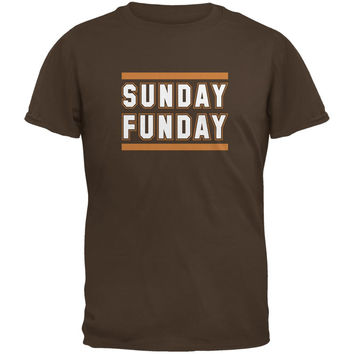 Sunday Funday Cleveland Brown Adult T-Shirt