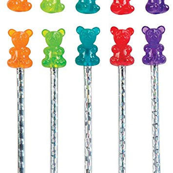 Raymond Geddes Gummy Bear Scented Pencil Topper, 24 Pack (69748)