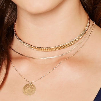 Layered Medallion Choker