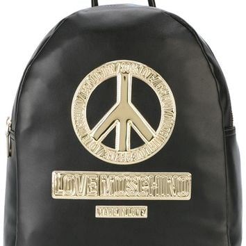 Love Moschino Peace Patch Backpack - Farfetch