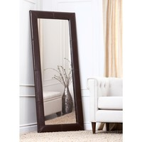 Abbyson Living Delano Saddle Brown Leather Floor Mirror