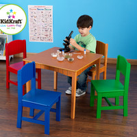 KidKraft Nantucket Table & 4 Primary Chairs - 26121