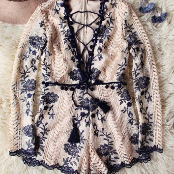 Mountain Spell Romper in Navy