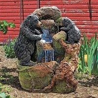 SheilaShrubs.com: Grizzly Gulch Black Bears Sculptural Fountain SH380324 by Design Toscano: Garden Fountains