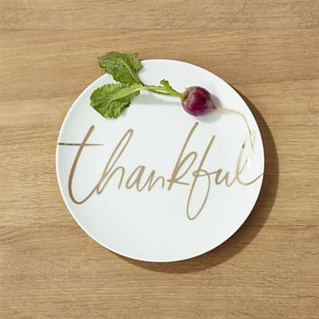 Thankful Salad Plate