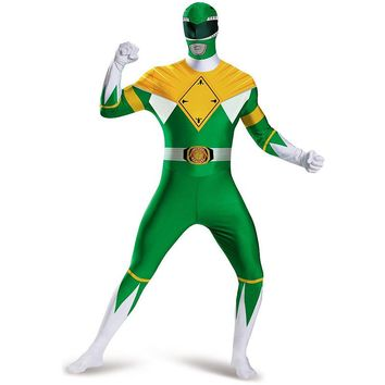 Mighty Morphin Power Rangers Green Ranger Costume - Adult (Blue)