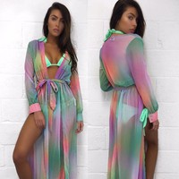 Rainbow Sherbet Summer Cover-Up