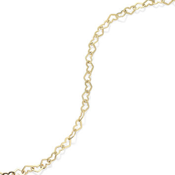 Giani Bernini 24k Gold over Sterling Silver Anklet, Heart Chain Anklet - Bracelets - Jewelry & Watches - Macy's
