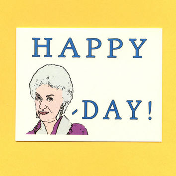 BEA ARTHUR BIRTHDAY  Happy Bea Day  Funny Birthday by seasandpeas
