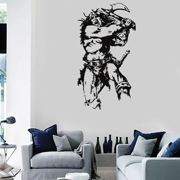 Wall Stickers Vinyl Decal Warrior Barbarian Soldier Aggressive Decor  Unique Gift (z2170)