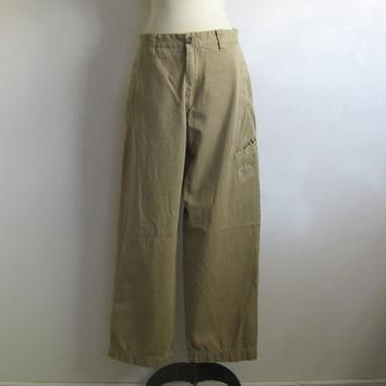 Timberland Kkaki Pants Vintage 1990s Brown Mens Casual Cotton Pants 32W Outdoor Gear B
