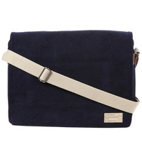 Hex Accessories Messenger Bag in Navy Corduroy