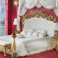 Classic Silver or Gold Finish Bedroom from Turkey - Top and Best Classic Furniture in Qatar and Classical interior Design Italian Companies