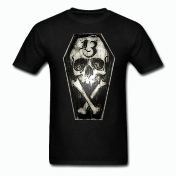 Lucky 13 Skull and Coffin T