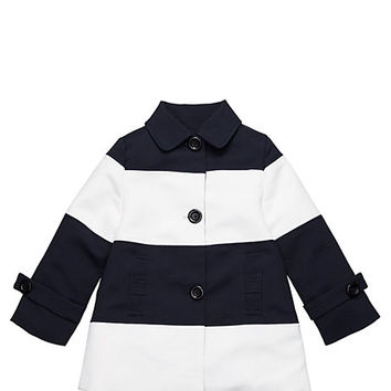 Kate Spade Toddlers' Nera Coat Rich Navy/ Fresh White Stripe