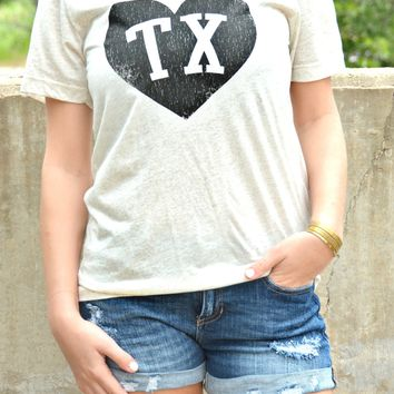Charlie Southern Initial Heart Tee - TX