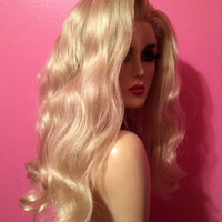 Blonde DEATH BECOMES HER Wig! Custom Professional Lace Front Costume Wig- Drag Queen, Celebrity Impersonator, Wavy Long Classic Blonde Hair