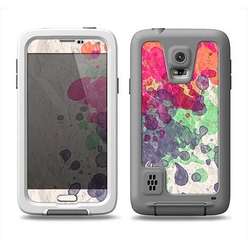 The Vintage WaterColor Droplets Samsung Galaxy S5 LifeProof Fre Case Skin Set