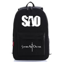 SAO Sword Art Online Backpack Laptop Bag Cosplay SchoolBag [8081691335]