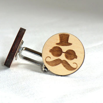 Cufflinks Personalized Wooden Cufflinks Groomsmen gift Groom gift Wedding cufflinks Cuff links Wedding Gifts for men Valentines gift for him