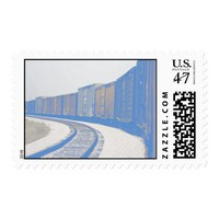 Freight Train Postage Stamp