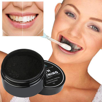30g Teeth Whitening Powder Natural Organic Activated Charcoal Bamboo Toothpaste remove plaque 3AP24