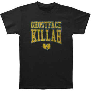 Ghostface Killah Men's  Gold Logo Slim Fit T-shirt Black
