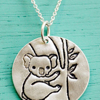 Silver Koala Necklace