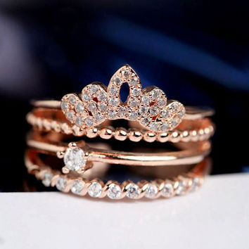 Crown Ring Stack