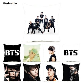 Babaite BTS Handsome Bangtan Boys Bedding Sets Throw Pillowcase 2 Sides Print Wedding Valentine's Gift