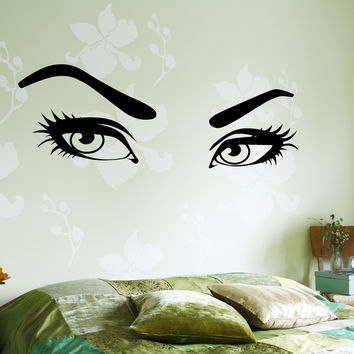 Wall Vinyl Decal Hot Sexy Eyes Romantic Decor For Bedroom z3750