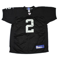 Vintage Reebok On Field Oakland Raiders #2 JaMarcus Russell NFL Jersey Size 48