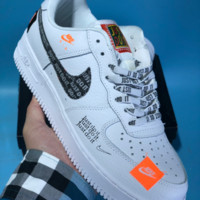 KUYOU N588 Nike Air Force 1 AF1 Low Retro Just do it Breathable Skate Shoes White Orange