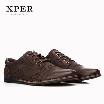 2016 XPER Brand Men Casual Shoes Lace-up Men Flats Shoes Breathable Casual Shoes For Men Huarache Big Size YM86838BN