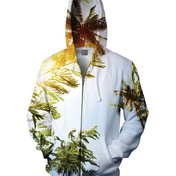 Palm Trees Zip-Up Hoodie