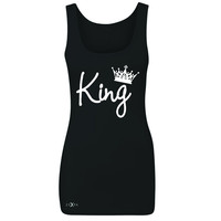 Zexpa Apparel™ King - He is my King Women's Tank Top Couple Matching Valentines Sleeveless