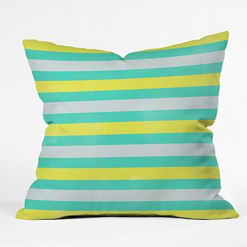 Allyson Johnson Bright Stripes Throw Pillow