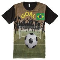 Brazil All-Over Printed T-Shirt All-Over Print T-shirt