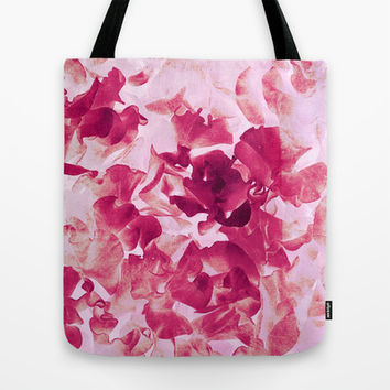 sweet peas variation Tote Bag by Clemm
