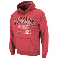 Colosseum Rutgers Scarlet Knights Flex Hoodie - Men, Size: XL (Red)