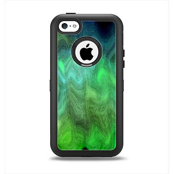 The Vivid Green Sagging Painted Surface Apple iPhone 5c Otterbox Defender Case Skin Set
