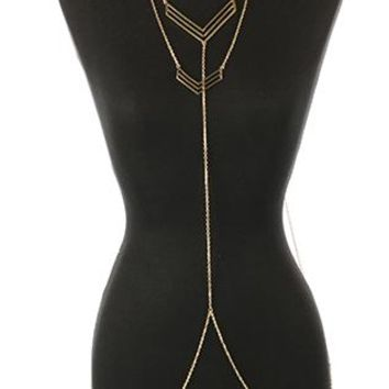 Body Chain Double Layer Chevron Necklace