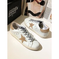 GGDB Golden Goose Uomo Donna Brown Star Fashion Shoes Low Top Sliver Sneaker