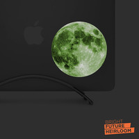 Glow In the Dark! - FULL MOON - Printed Vinyl Decal - Perfect For laptops, tablets, cars, trucks, & SUVs!