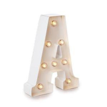Darice Metal Letter A Marquee Light Up, White