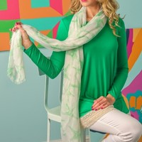 Sunny Seaside Scarf-Pale Green